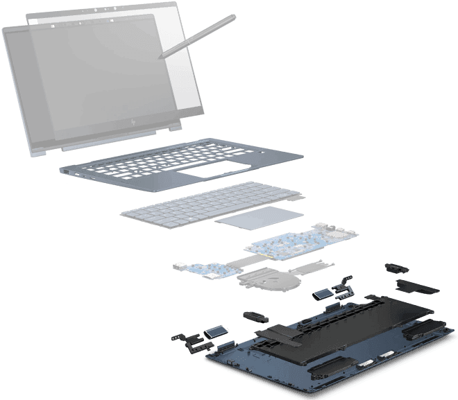 Antena / Audio | HP Elite Dragonfly